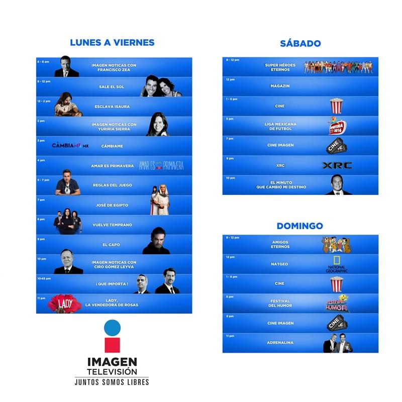 Conoce la programación de Imagen Televisión, el nuevo canal de TV abierta en México - programacion-canal-imagen-television
