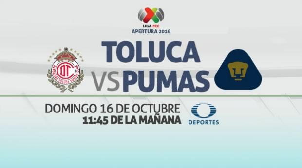 Toluca vs Pumas, J13 del Apertura 2016 | Resultado: 2-1 - toluca-vs-pumas-televisa-deportes
