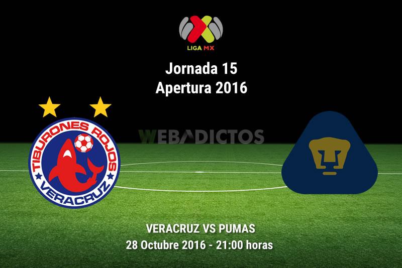 Veracruz vs Pumas, Jornada 15 del Apertura 2016 | Resultado: 1-4 - veracruz-vs-pumas-apertura-2016