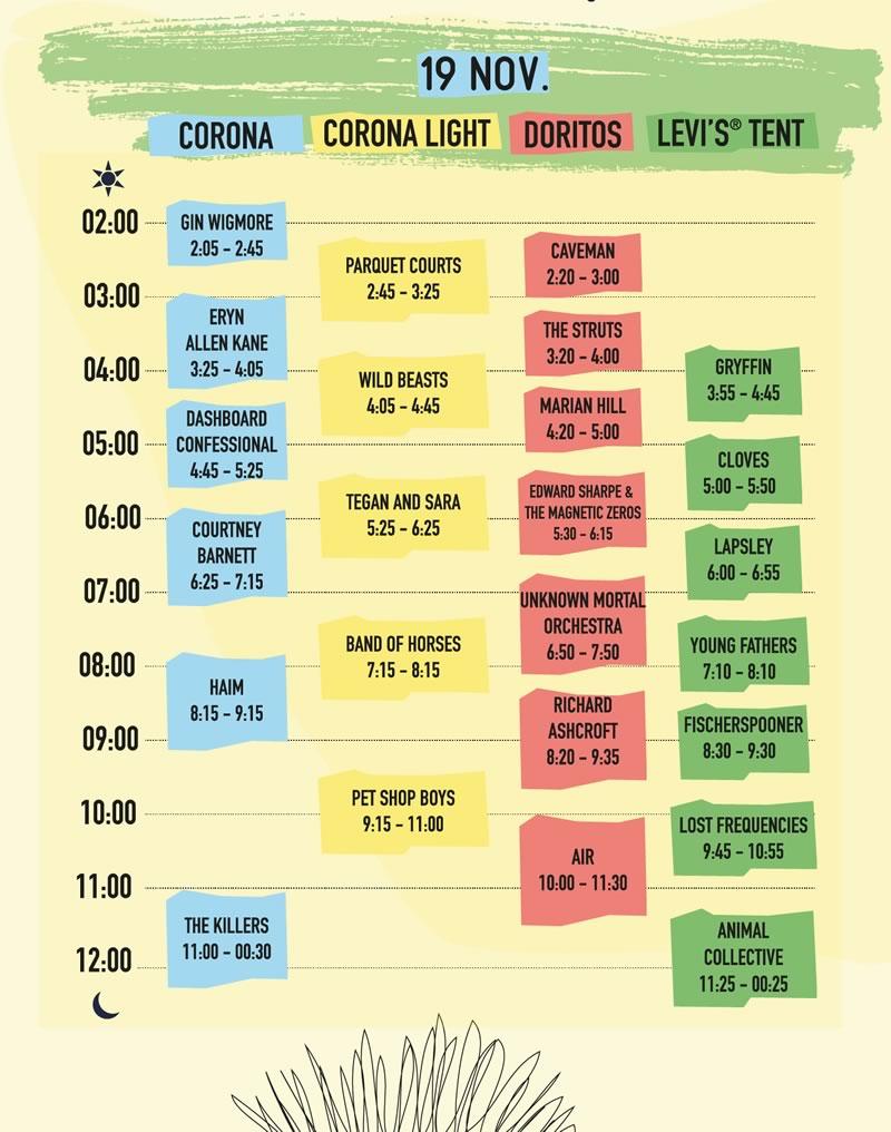 Revelan los horarios del Corona Capital 2016 ¿Cuándo toca tu banda favorita? - horarios-corona-capital-2016-19-noviembre