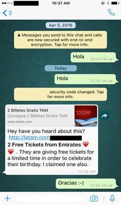 Fraude en WhatsApp ofrece boletos de avión gratis a cambio de contactos - mensaje-de-phishing-que-se-propaga-a-traves-de-whatsapp-e