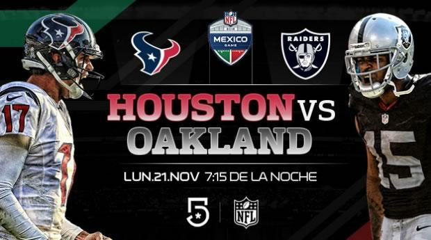 Raiders de Oakland vs Houston, NFL en México | Resultado: 27-20 - oakland-vs-houston-nfl-en-mexico-televisa