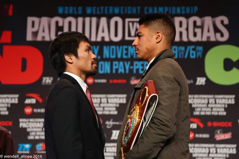 Manny Pacquiao y Jessie Vargas listos para la pelea del sábado