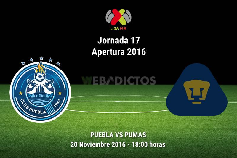 Puebla vs Pumas, Jornada 17 del Apertura 2016 | Resultado: 0-3 - puebla-vs-pumas-apertura-2016