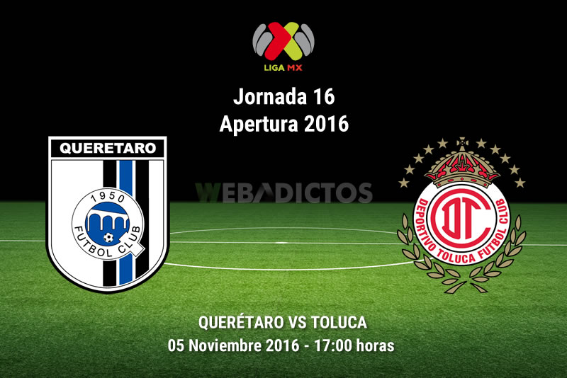 Querétaro vs Toluca, Jornada 16 del Apertura 2016   Resultado: 2-3 - queretaro-vs-toluca-apertura-2016