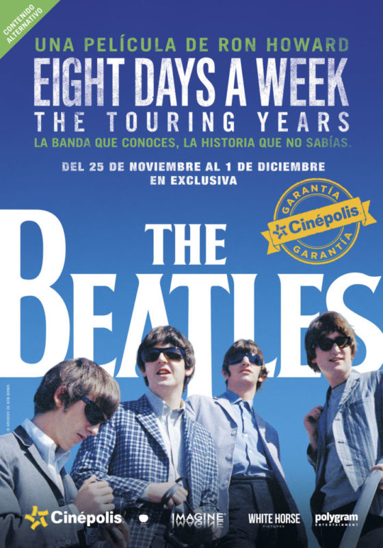 Cinépolis presenta en exclusiva documental de The Beatles - the-beatles-eight-days-a-week-the-touring-years-560x800