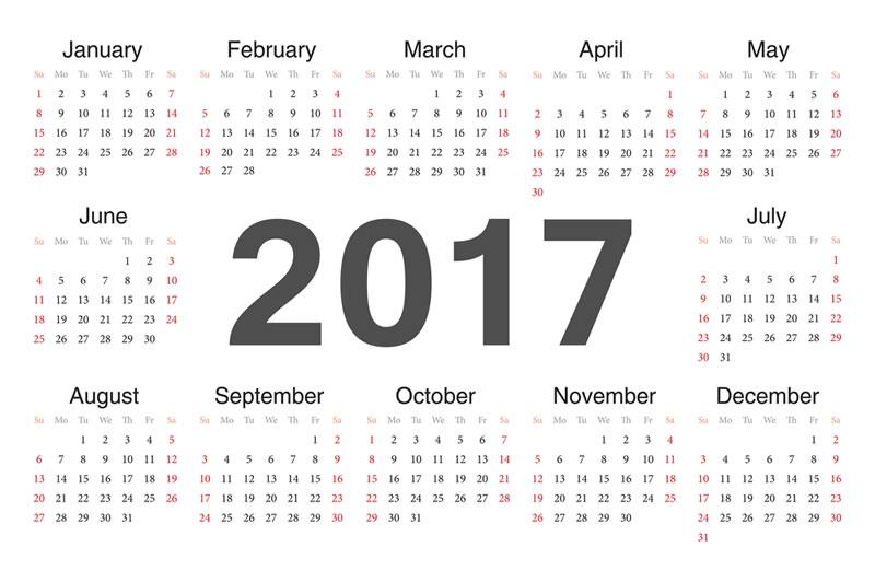 ... Calendario 2017, opciones para descargar calendarios para imprimir