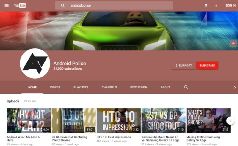 YouTube pone a prueba su nuevo diseño a lo Material Design - material-design-youtube-800x492