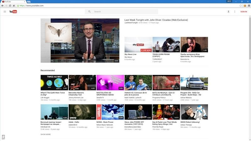 YouTube pone a prueba su nuevo diseño a lo Material Design - new-youtube-homepage-material-design-800x450