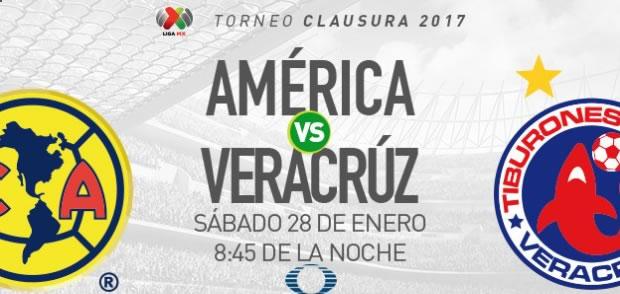 América vs Veracruz, Jornada 4 Clausura 2017 | Resultado: 1-0 - america-vs-veracruz-j4-clausura-2017-en-vivo