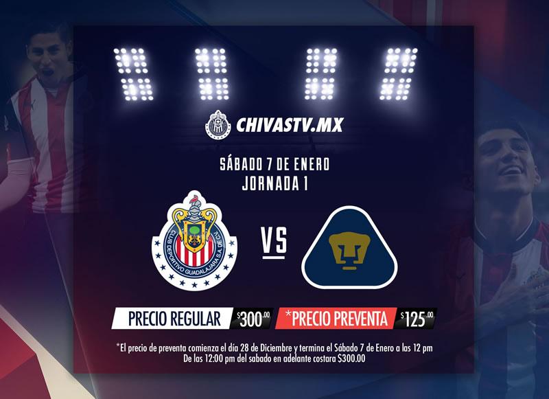 Chivas vs Pumas, Jornada 1 del Clausura 2017 | Resultado: 2-1 - chivas-vs-pumas-chivas-tv-clausura-2017
