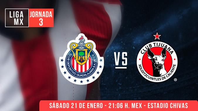 Chivas vs Tijuana, Jornada 3 Clausura 2017 | Resultado: 0-1 - chivas-vs-xolos-claro-video-clausura-2017