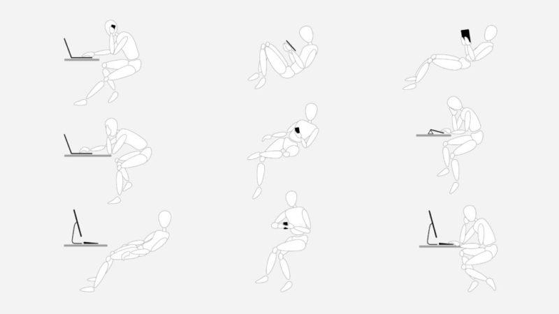 Cómo cuidar tu postura al usar dispositivos tecnológicos en el trabajo - gesture-global-posture-study-1-800x450