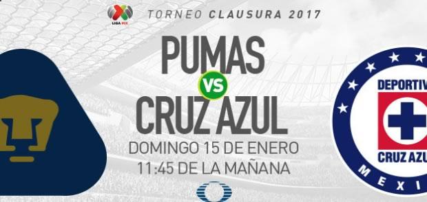 Pumas vs Cruz Azul, Jornada 2 Clausura 2017 | Resultado: 1-0 - pumas-vs-cruz-azul-televisa-deportes-clausura-2017