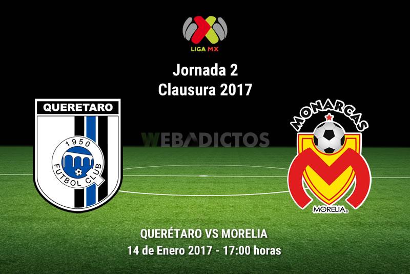 Querétaro vs Morelia, Jornada 2 del Clausura 2017 | Resultado: 0-0 - queretaro-vs-morelia-clausura-2017
