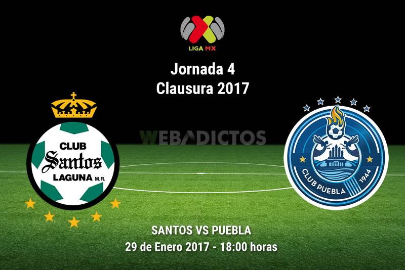 Santos vs Puebla, Jornada 4 del Clausura 2017 | Resultado: 2-0 - santos-vs-puebla-j4-clausura-2017