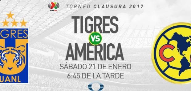 Tigres vs América, Jornada 3 Liga MX Clausura 2017   Resultado: 4-2 - tigres-vs-america-j3-clausura-2017-en-vivo