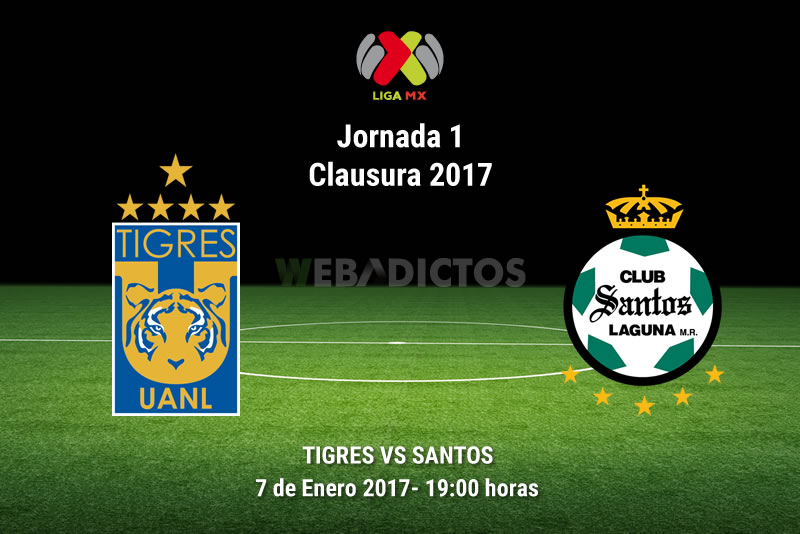 Tigres vs Santos, Jornada 1 del Clausura 2017   Resultado: 0-0 - tigres-vs-santos-clausura-2017
