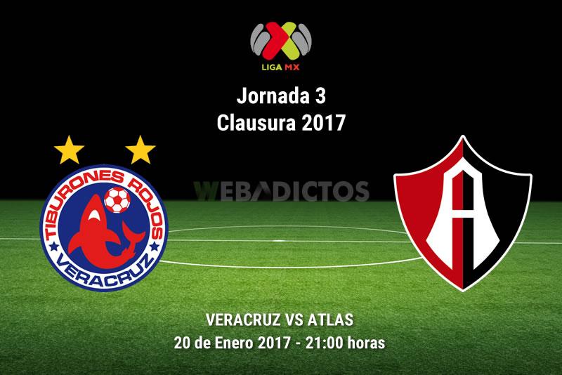 Veracruz vs Atlas, Jornada 3 del Clausura 2017   Resultado: 1-0 - veracruz-vs-atlas-j3-clausura-2017