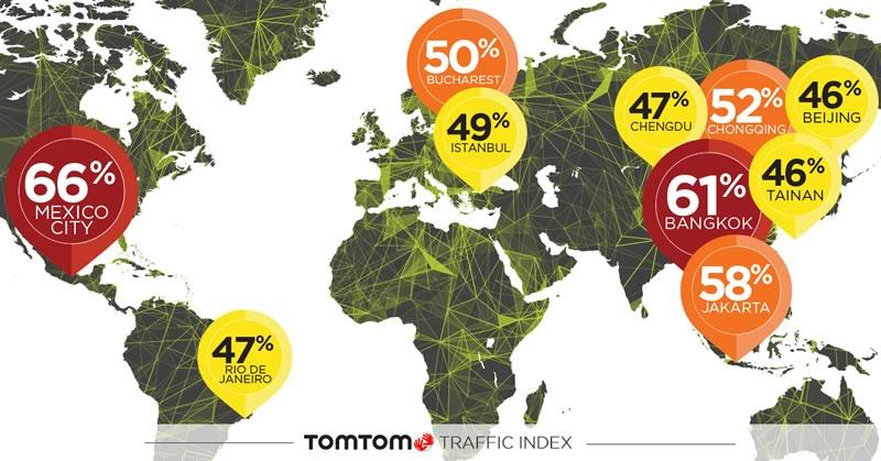 ciudad con mas trafico del mundo La Ciudad de México es la ciudad con más tráfico del mundo: TomTom Traffic Index 2017
