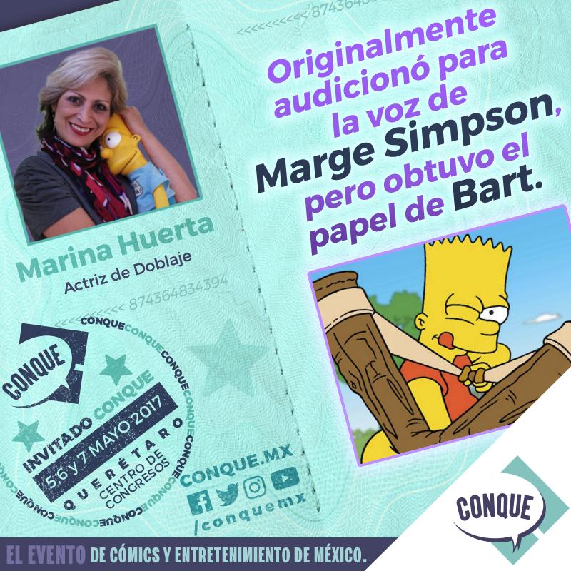 Bart y Marge en una misma voz… Marina Huerta en CONQUE 2017 - marinahuerta_cqfact