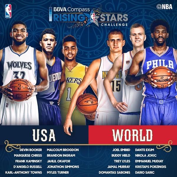 Horarios del NBA All Star 2017 y en qué canal verlo - nba-rising-stars-challenge-2017