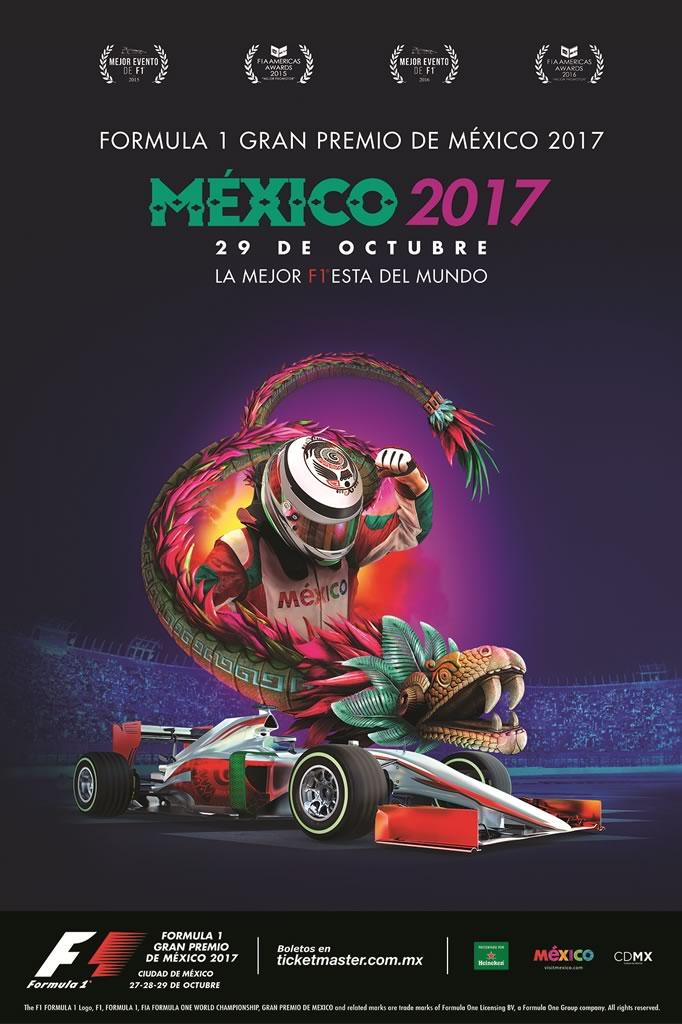 poster gran premio de mexico 2017 Se mantendrán los precios para el Formula 1 Gran Premio de México 2017