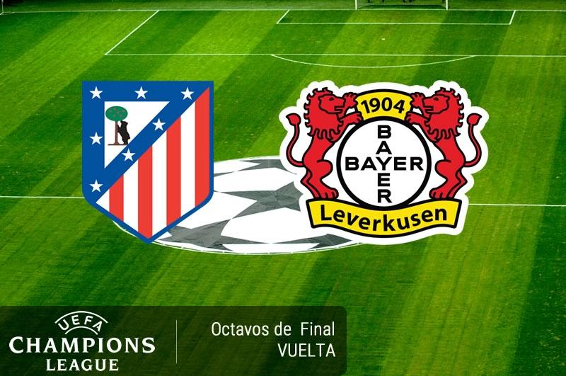 Atlético Madrid vs Bayer Leverkusen, Champions 2017 | Resultado: 0-0 - atletico-madrid-vs-bayer-leverkusen-octavos-champions-2017