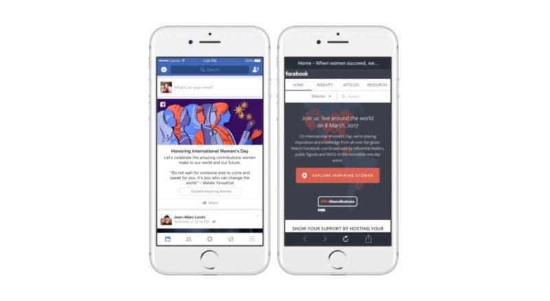 Facebook celebra el Día Internacional de la Mujer con 24 horas de Facebook Live - dia-de-la-mujer-facebook-800x438