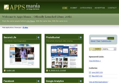 Apps Mania - Un ShowCase de Aplicaciones Web - appsmania