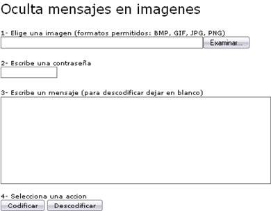 cryptimg screenshot Ocultar Archivos O Texto Dentro de Una Imagen