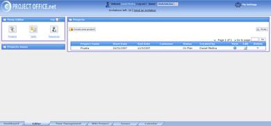 projectoffice 01 Project Office Sistema En Linea Para La Administración de Proyectos