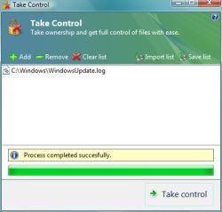 Desbloquear Archivos en Windows Vista con TakeControl - take-control