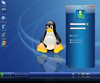 Tema Fedora Linux Para Windows XP - tema-linux-fedora