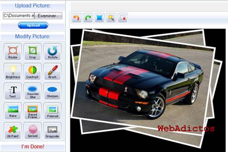 editor imagenes Editar Imagenes en linea y agregarle efectos con Pic Resize
