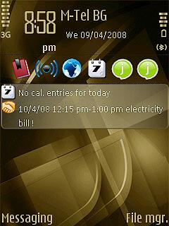 bronze cubic Temas para celulares con Symbian S60 gratis
