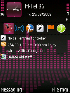 pink equalizer Temas para celulares con Symbian S60 gratis