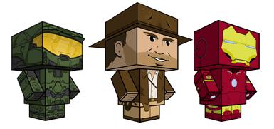 Muñecos recortables gratis en CubeeCraft - figuras-recortables