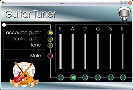 afinar guitarra Afinar Guitarra en la computadora con Free Guitar Tuner