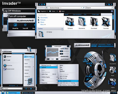 Temas Windows, AlienGUIse Theme Manager - temas-windows-invader
