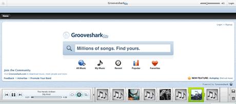 musica, escucha musica online en GrooveShark - musica