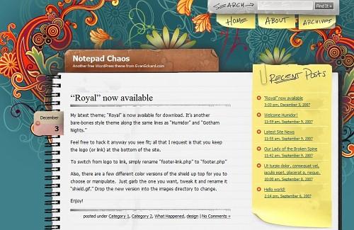 Themes wordpress, 30 templates gratis - themes-wordpress-notepad-chaos