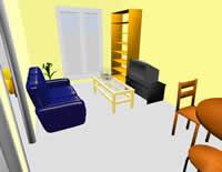 Diseño de interiores con Sweet Home 3D - diseno-interiores-ejemplo
