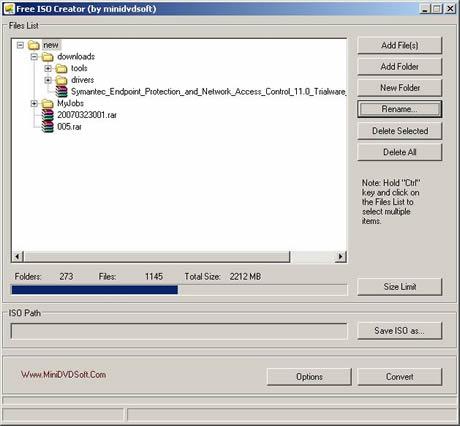Archivos ISO, crealos con Free ISO Creator - archivos-iso
