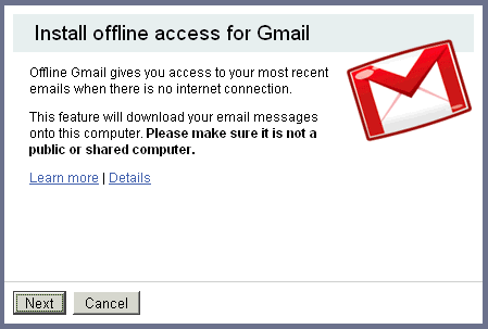 gmail offline gratis Gmail offline via Google Gears