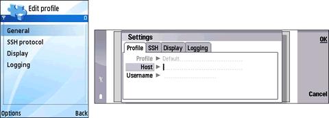 ssh celulares Software Nokia, Cliente SSH Putty para nokia