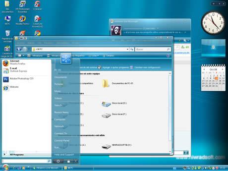 tema vista para xp Themes xp, Vista Live Shell Pack 2.0