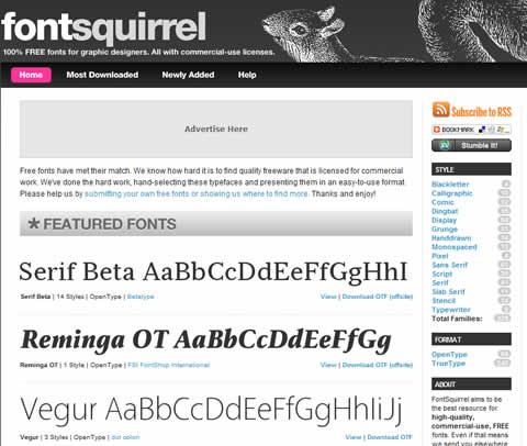 fuentes gratis diseno Fuentes gratis para diseño en Font Squirrel