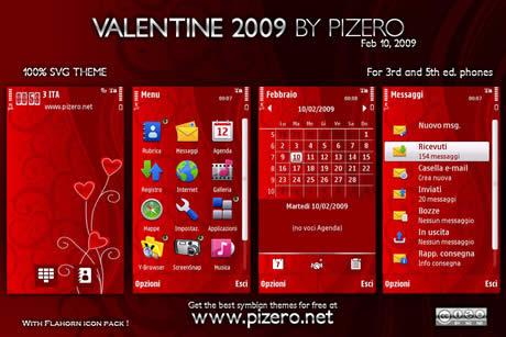 themes nokia san valentin Temas nokia, Valentine 09