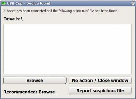 virus usb usb cop Virus usb, protegete con USB Cop